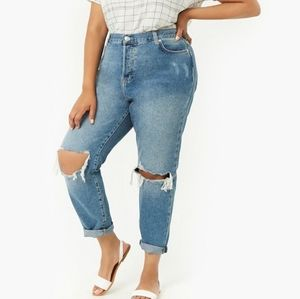 AEO  Distressed Mom Jeans NWOT